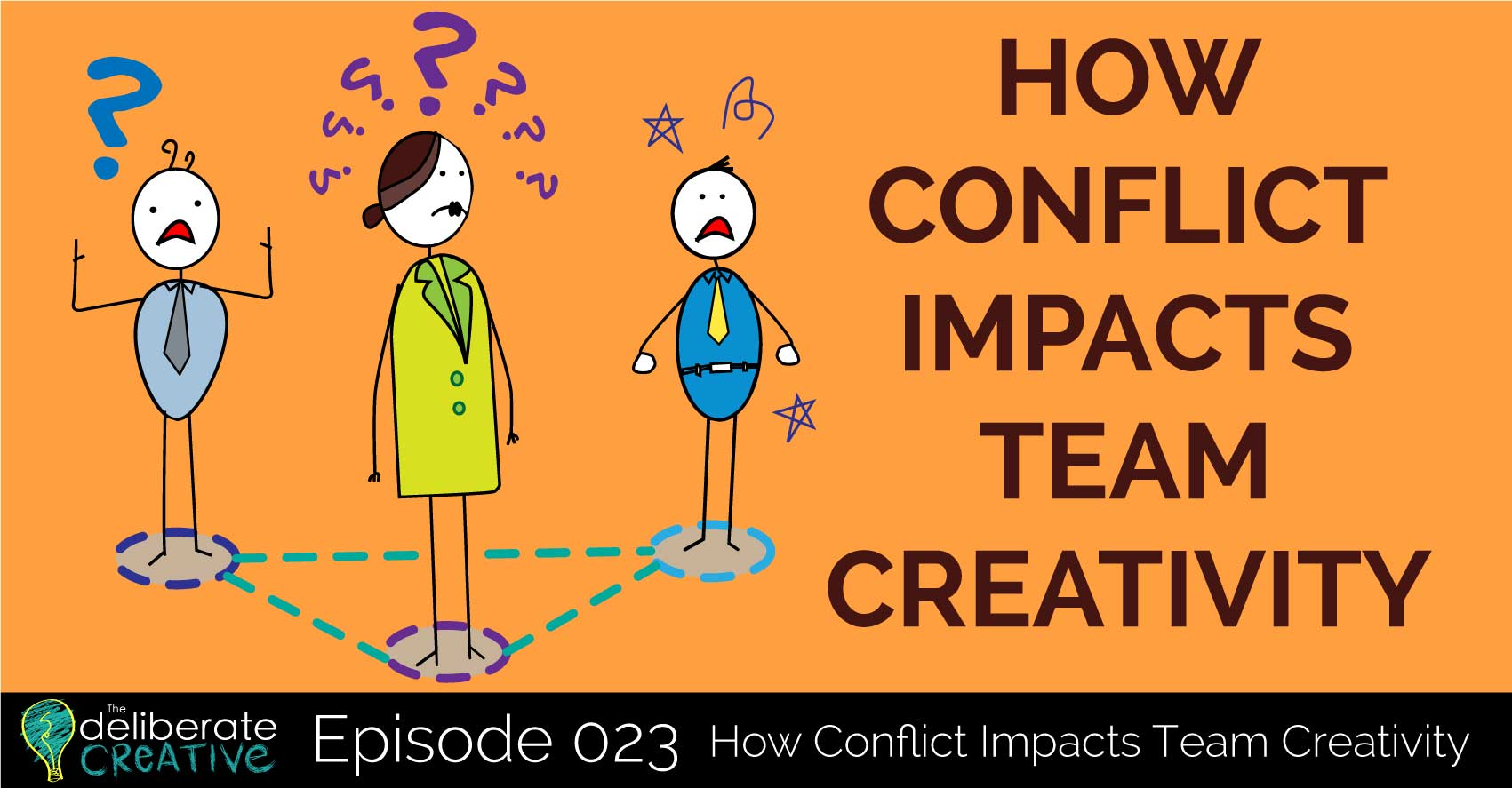 How Conflict Impacts Team Creativity - The Deliberate Creative Podcast Episode 23