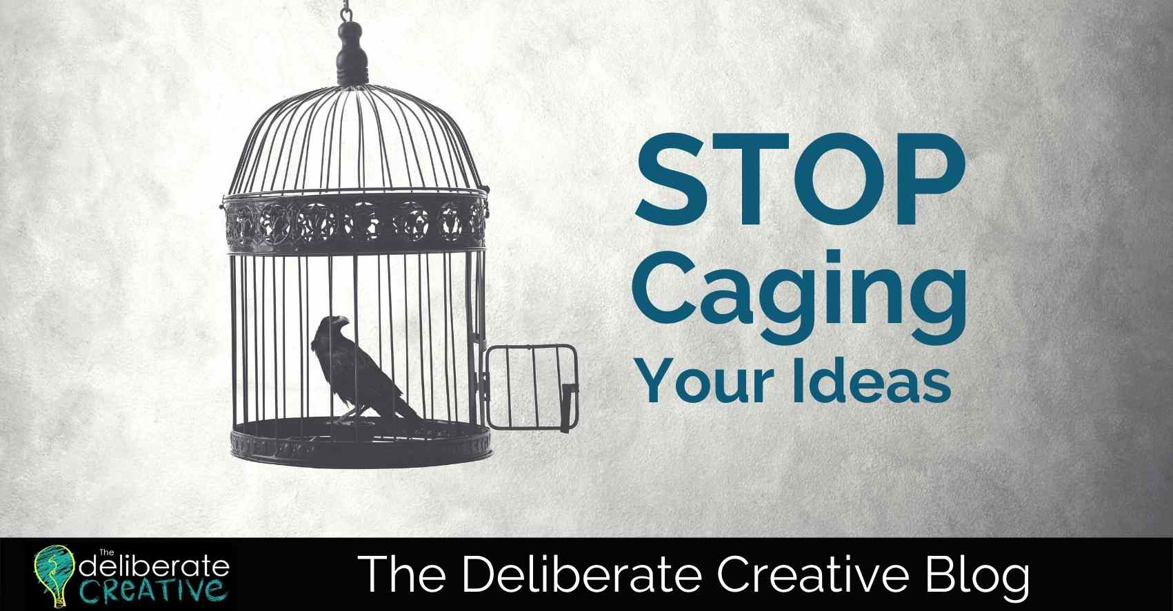 The Deliberate Creative Blog: Stop Caging Your Ideas