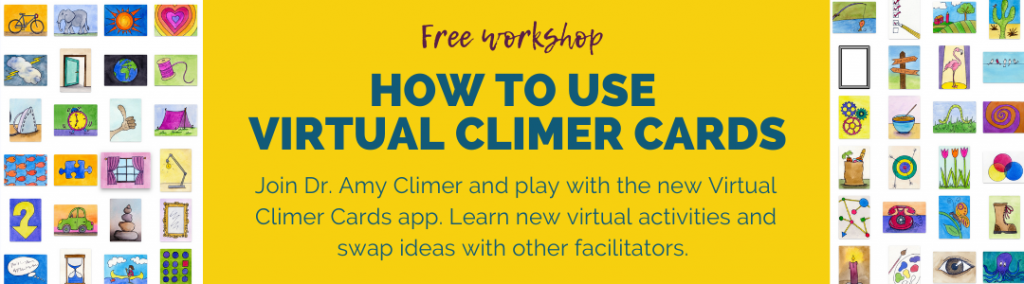 Virtual Climer Cards Workshop banner